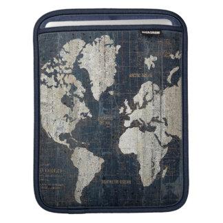Welts-Karten-Blau iPad Sleeve