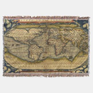 Welts-Karten-Wolldecken Decke