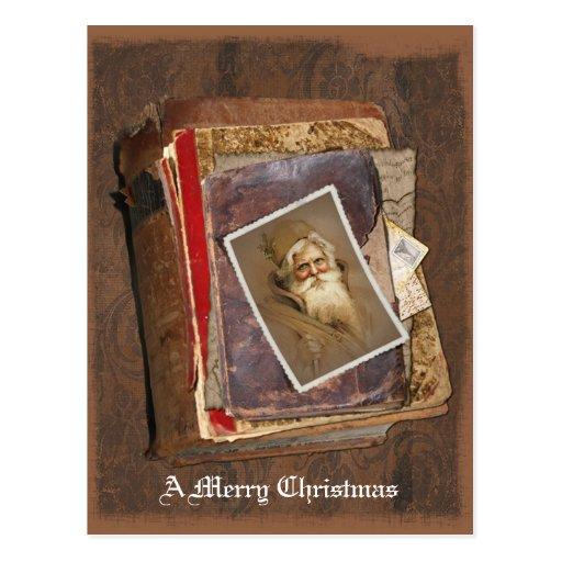 Welts-Sankt-Bücher, frohen Weihnachten Postkarte