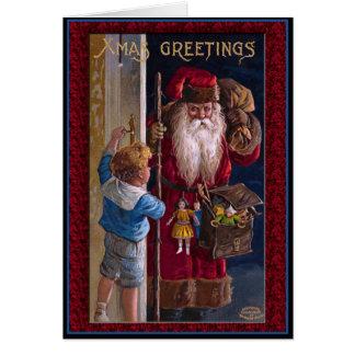 Welts-Sankt-Weihnachtsgrüße Grußkarte