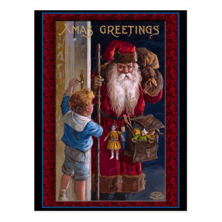 Welts-Sankt-Weihnachtsgrüße Postkarten