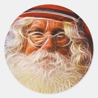 Welts-Vater-Weihnachtsweihnachtsmann-Porträt Runder Sticker