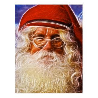 Welts-Vater-Weihnachtsweihnachtsmann-Porträt Postkarte