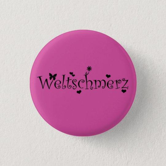 Weltschmerz Button (Black/Pink)