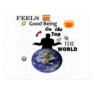 Weltspitze durch Credle Postkarte