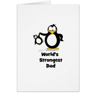 Weltstärkster Vati-Pinguin Grußkarte
