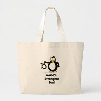 Weltstärkster Vati-Pinguin Jumbo Stoffbeutel