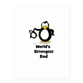 Weltstärkster Vati-Pinguin Postkarte