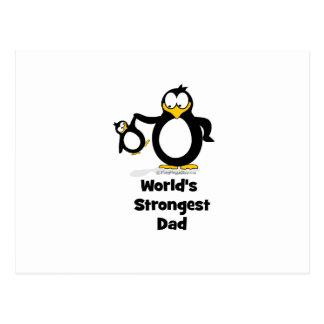 Weltstärkster Vati-Pinguin Postkarten