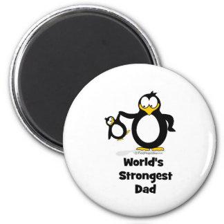 Weltstärkster Vati-Pinguin Runder Magnet 5,7 Cm