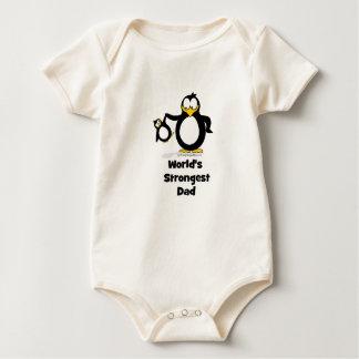 Weltstärkster Vati-Pinguin Strampelanzug
