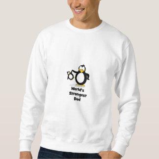 Weltstärkster Vati-Pinguin Sweatshirt