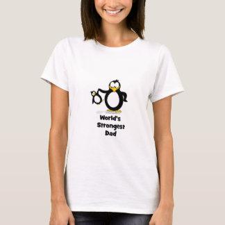 Weltstärkster Vati-Pinguin T-Shirt