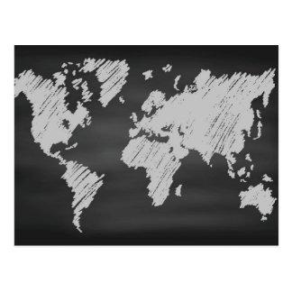 Welttafel-Karte Postkarte