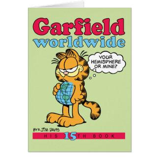 Weltweite Anmerkungs-Karte Garfields Grußkarte