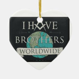 Weltweite Bruderschaft Keramik Herz-Ornament