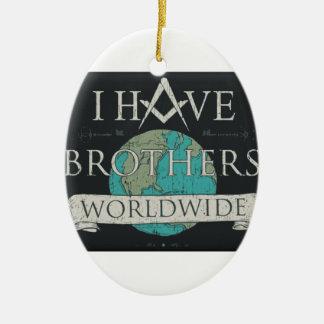 Weltweite Bruderschaft Ovales Keramik Ornament