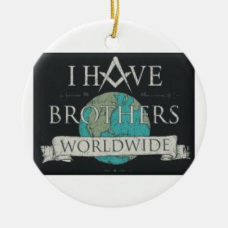 Weltweite Bruderschaft Rundes Keramik Ornament