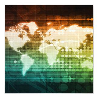 Weltweite Technologie-und Massen-Adoption des Quadratische 13,3 Cm Einladungskarte
