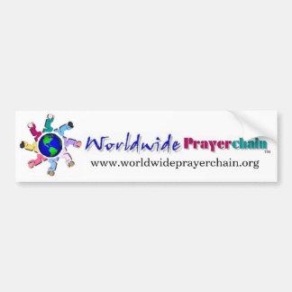 Weltweiter Gebets-Ketten-Autoaufkleber Autoaufkleber