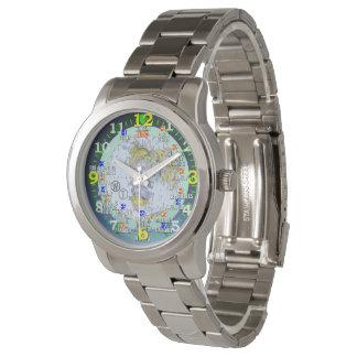 Weltzeit-Zonen-Stadt-Reise-Armbanduhr Uhr