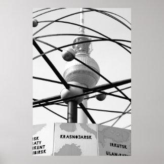 Weltzeituhr Fernsehturm Berlin No.1 Posterdruck