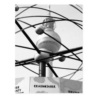 Weltzeituhr Fernsehturm Berlin No.1 Postkarte