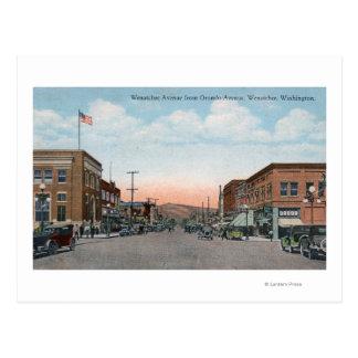 Wenatchee Allee-Ansicht von Orondo Allee Postkarte