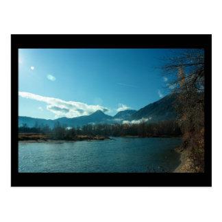 Wenatchee Fluss, Leavenworth WA Minidruck Postkarte