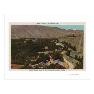 Wenatchee, WABirds Auge der Ranch im Tal Postkarte