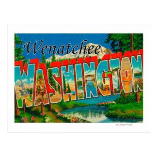 Wenatchee, WashingtonLarge Buchstabe-Szenen Postkarte