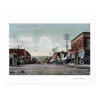 Wenatchee, WashingtonView der Hauptstraße Postkarte