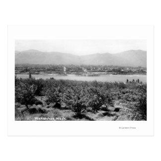 Wenatchee, WashingtonView des Flusses und Postkarte
