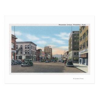 Wenatchee, WashingtonWenatchee Alleen-Szene # Postkarte