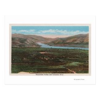 Wenatchee, WAView des Tales u. Columbia River Postkarte