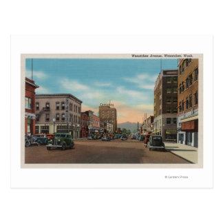 Wenatchee, WAView von Wenatchee Allee Postkarte