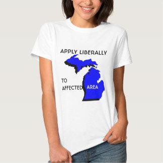 Wenden Sie liberal - Michigan an Tshirt