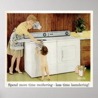 Wenden Sie mehr bemuttern-loses Zeitwaschen der Ze Poster
