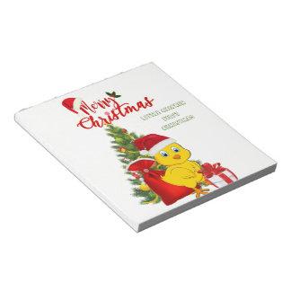 Wenig Baby-Huhn-Weihnachten Notizblock