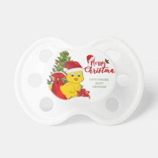 Wenig Baby-Huhn-Weihnachten Schnuller