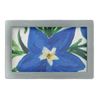 wenig blaue Blumensammlung Rechteckige Gürtelschnalle