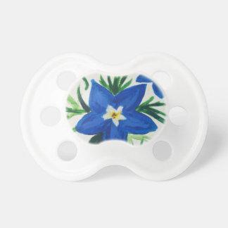 wenig blaue Blumensammlung Schnuller