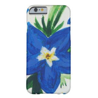Wenig blauer Blumen-Kasten Barely There iPhone 6 Hülle