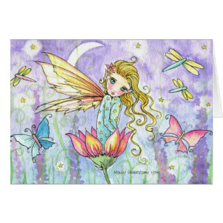 Wenig Blumen-feenhafte Karte durch Molly Harrison