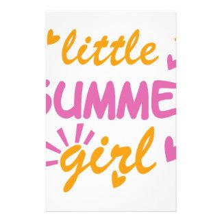 Wenig cooler Entwurf des Sommermädchens Briefpapier