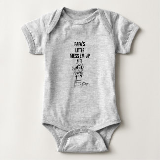 Wenig die Verwirrungs-EM des Papas oben Baby Strampler