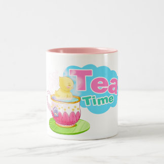 Wenig duckie Teatimeschale Zweifarbige Tasse