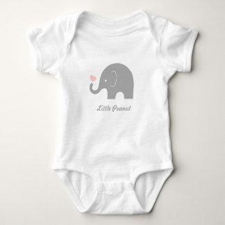 Wenig Erdnuss-Elefant-Baby-Bodysuit, rosa Herz Baby Strampler