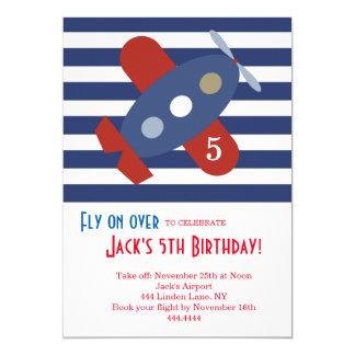 Wenig Flugzeug-Geburtstags-Party Einladung