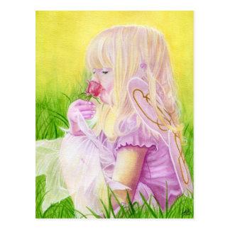 Wenig Frühlings-feenhafte Rosen-Postkarte Postkarte